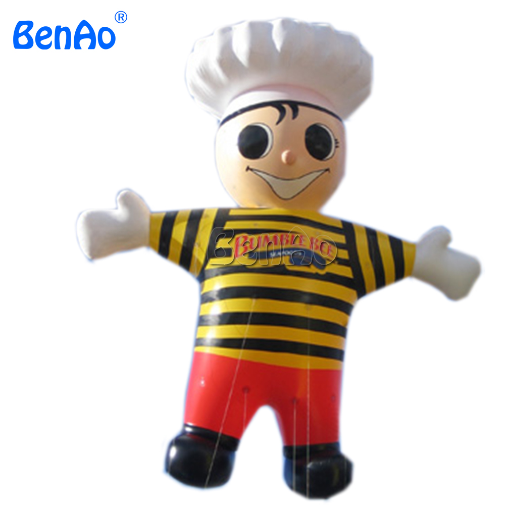 AO009  huge inflatable cook cartoon , inflatable chef model, inflatable kitchener for sale