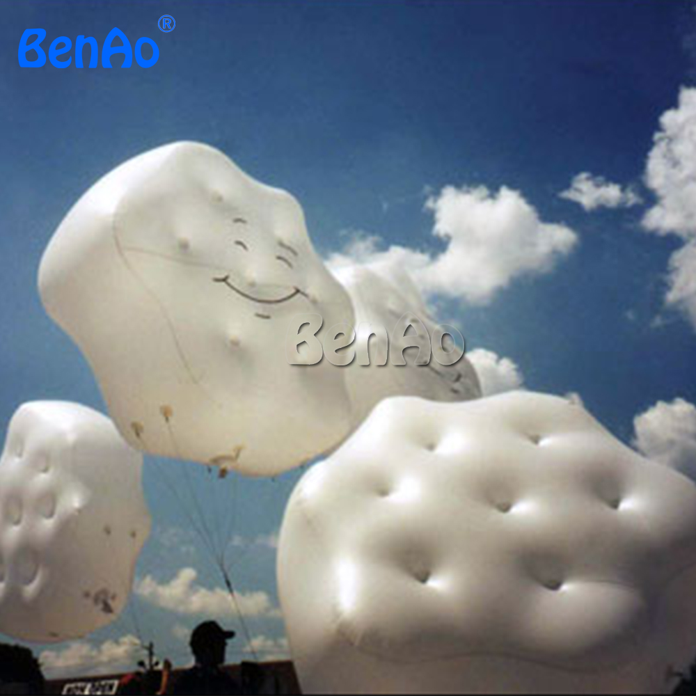 AO051 event decoration inflatable cloud shape balloon / helium balloon for advertising