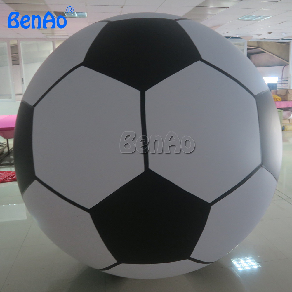 AO096 BenAo  2m Helium Air Advertising Football Inflatable Soccer Shape Balloon For Sale