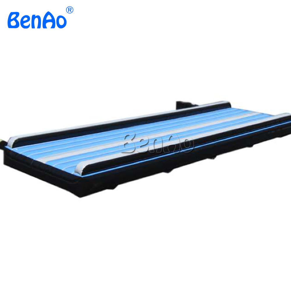 GA090  BenAo Blue Air Track For Home Used Gymnastics Inflatable Tumble Track