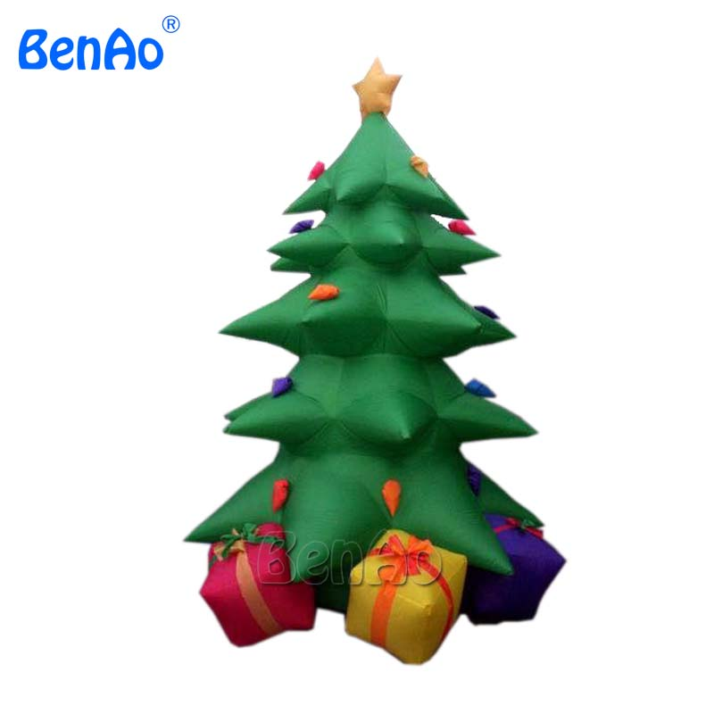X034 customize Christmas inflatable Xmas tree with gift box