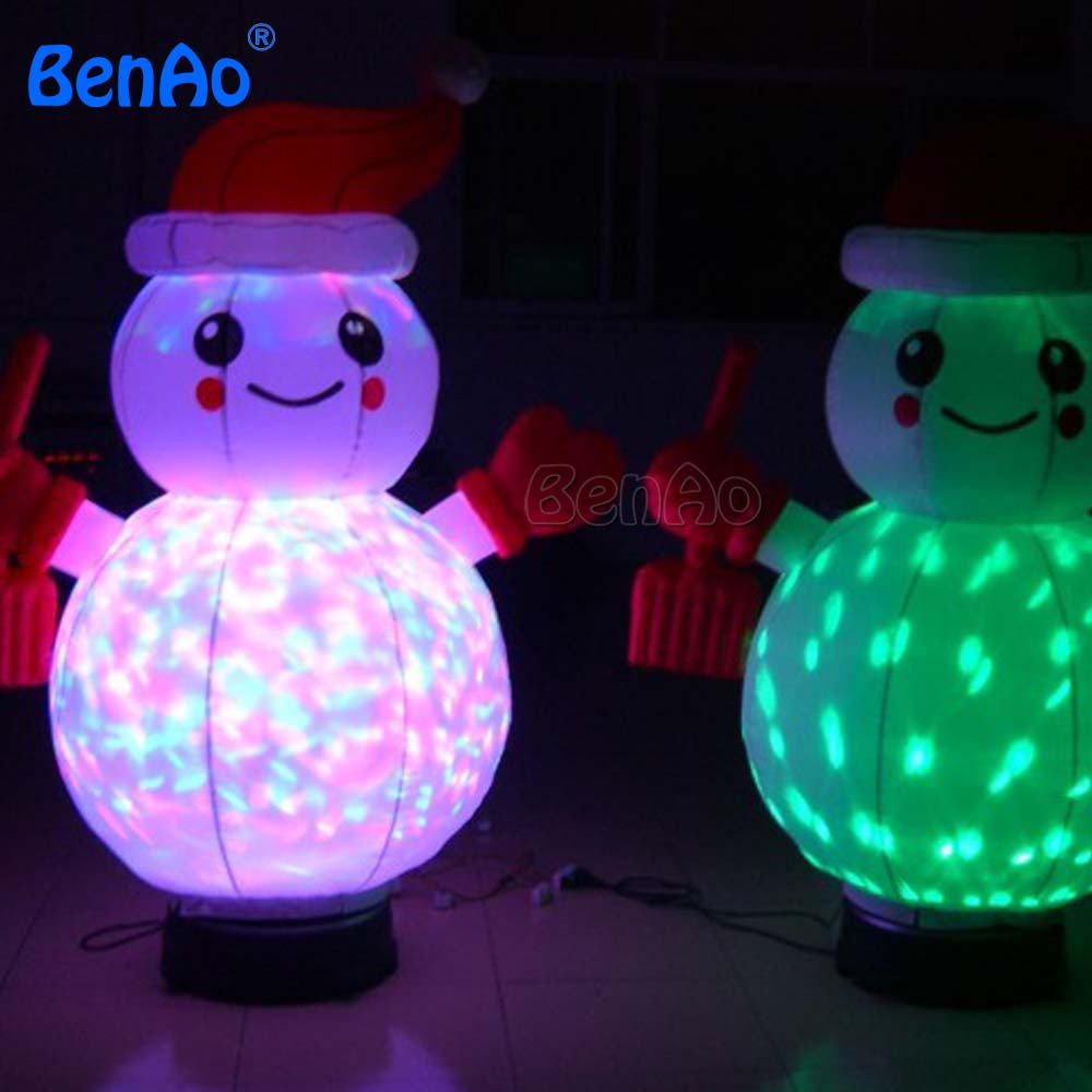 X035 Transparent Lighting Creative Christmas Decoration Snowman with LED Light