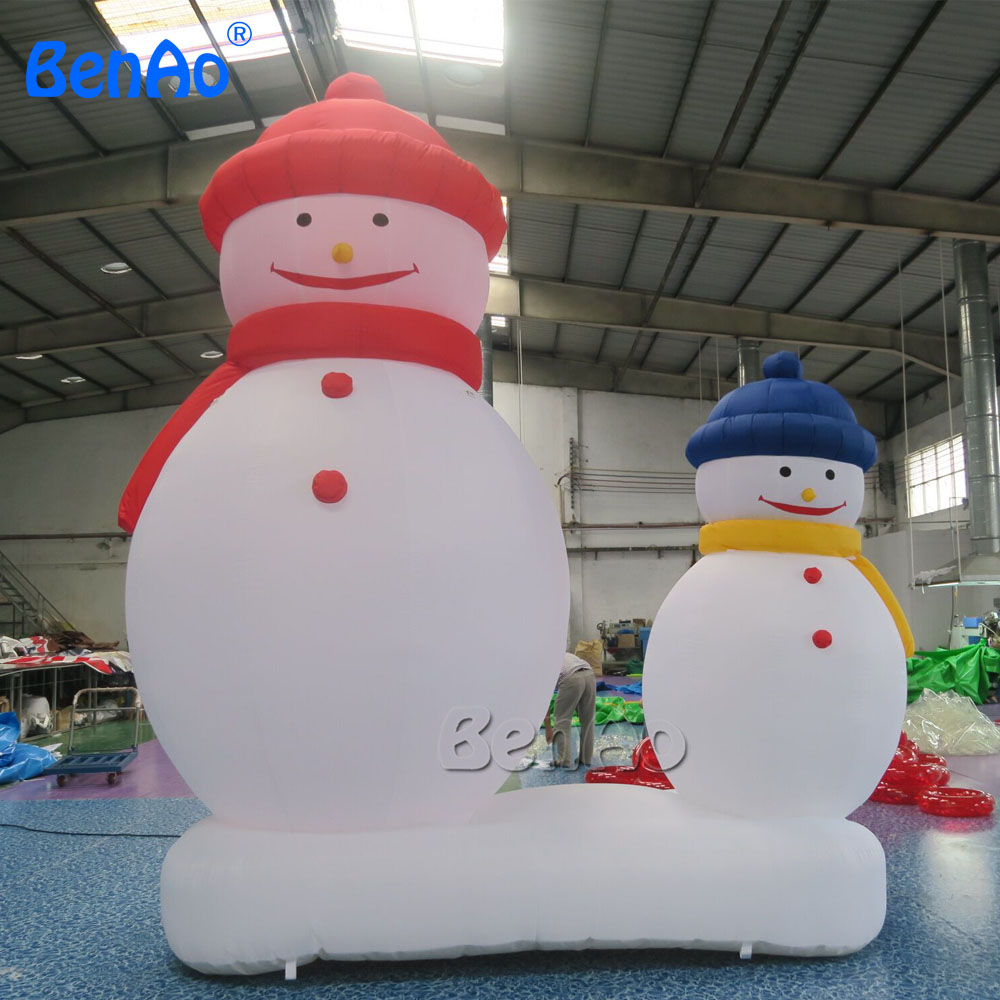 X036  Inflatable Standing Christmas Snowman