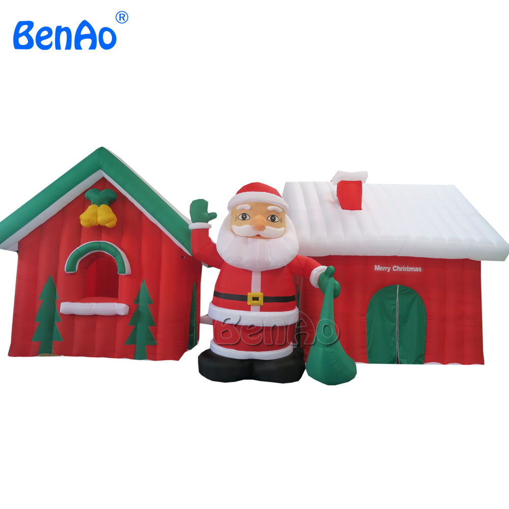 X039 Christmas top quality inflatable Christmas house Santa grotto tent